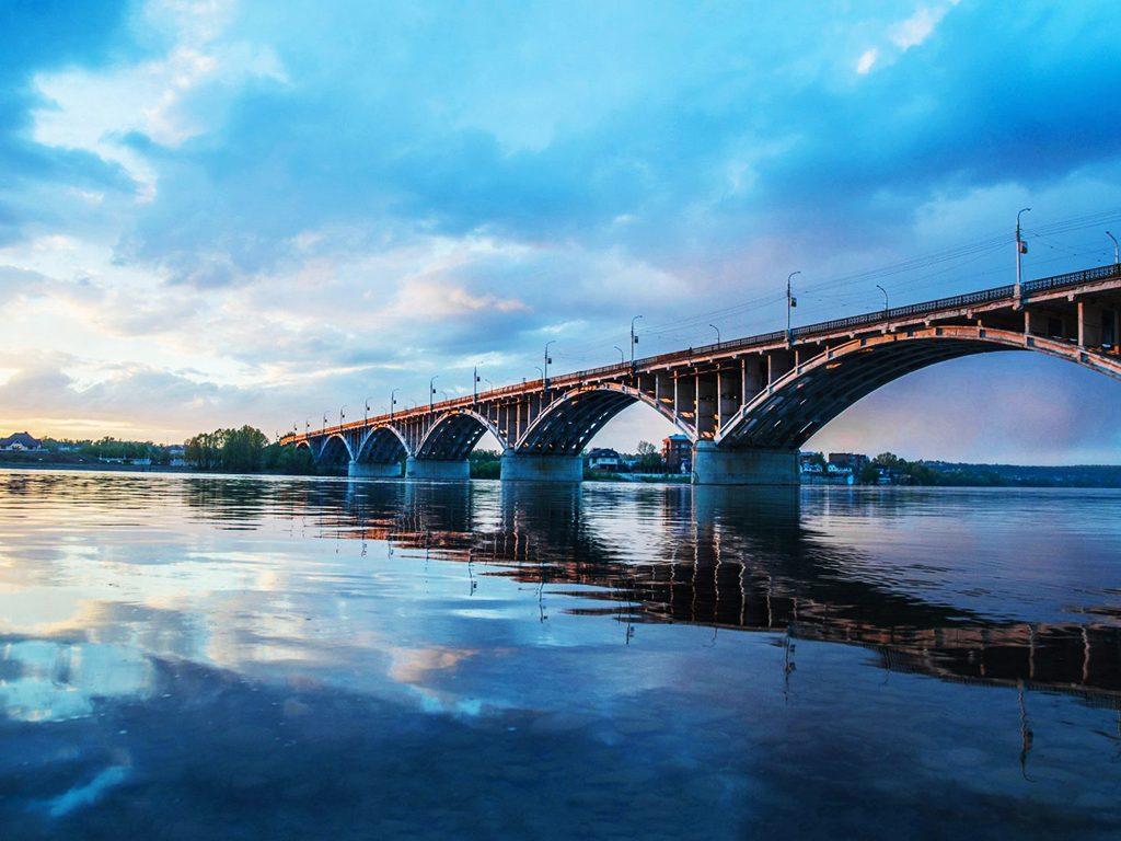 Коммунальный мост город Бийск.