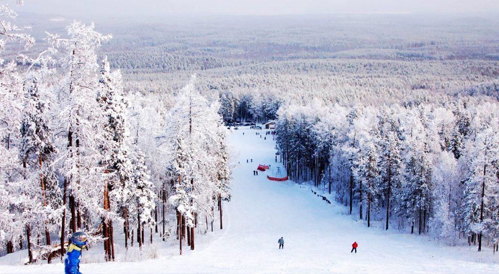 Красота Алтая и лыжи