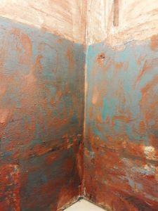 Стены намазаны бетон контактом