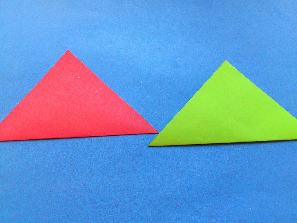 Тюльпан оригами 2 этап