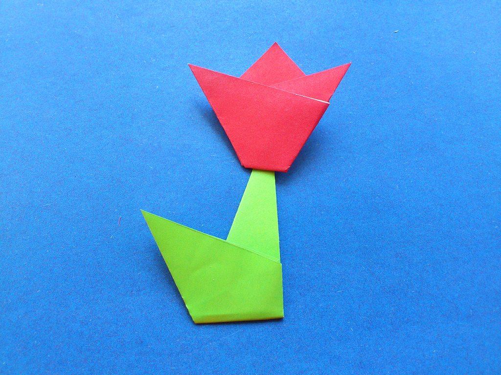 Тюльпан оригами 6 этап