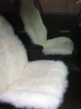 Меховушки на сиденья автомобиля
