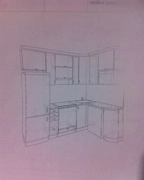 Схематичная модель кухонного гарнитура