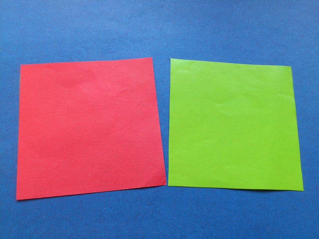 Тюльпан оригами 1 этап