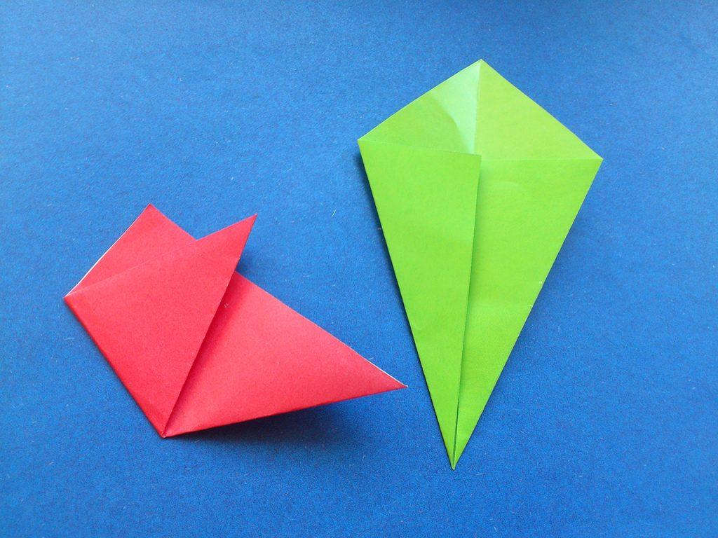 Тюльпан оригами 3 этап