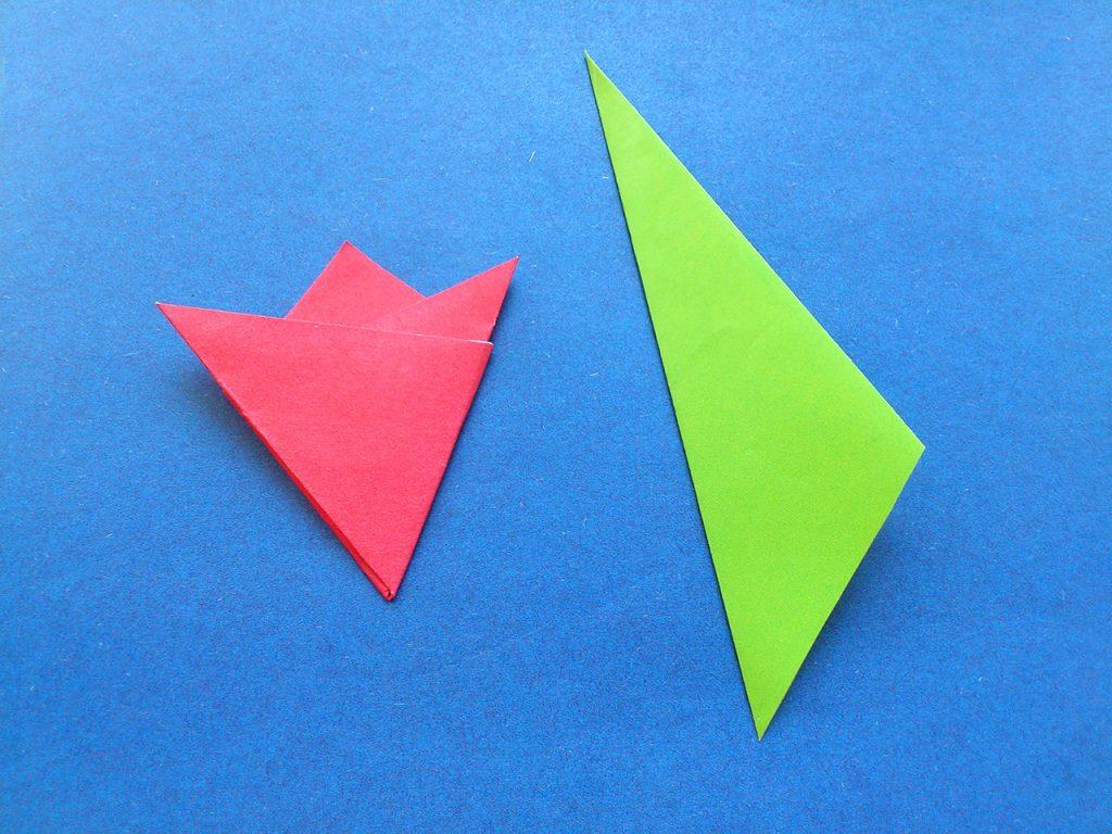 Тюльпан оригами 4 этап