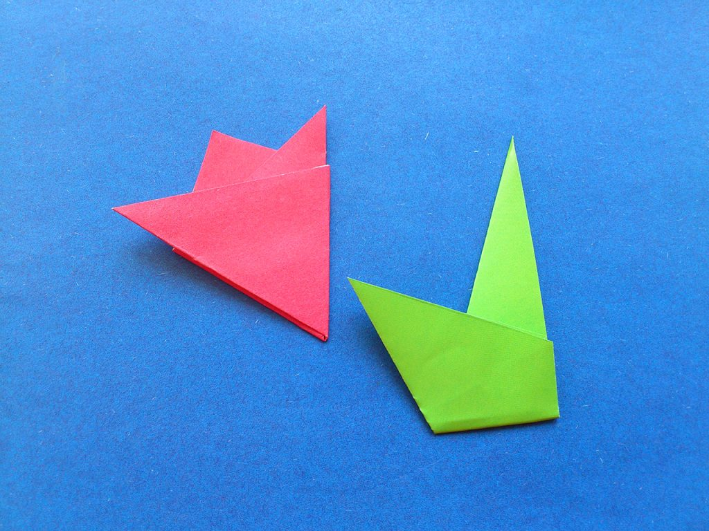 Тюльпан оригами 5 этап